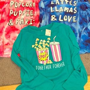 Lot of girls justice size 12 long-sleeve shirts